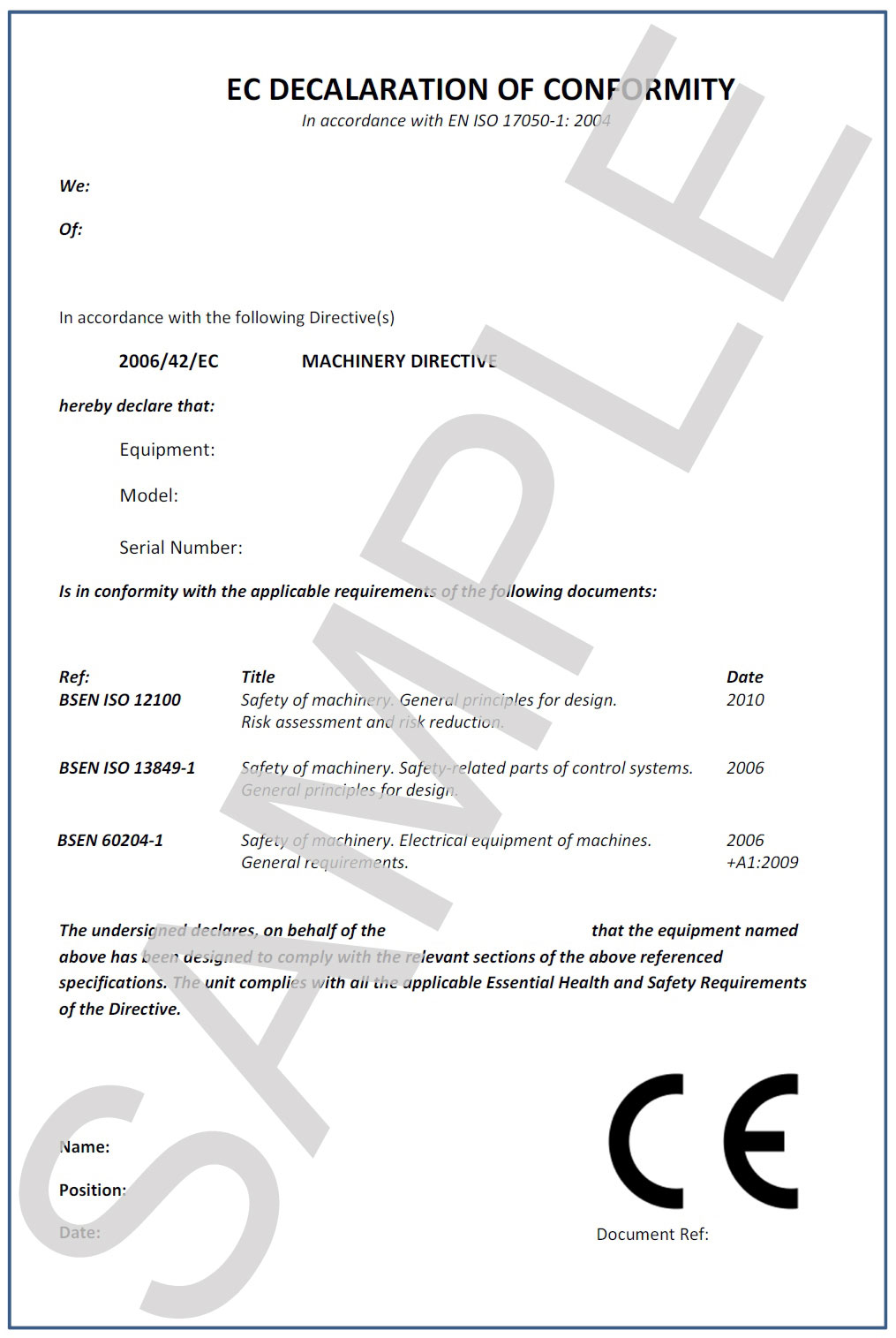 Certificate of conformity template 8749985 - metabo01.info